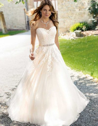 Hochzeitskleid Prinzessin Spitze Glitzer  Hochzeits
