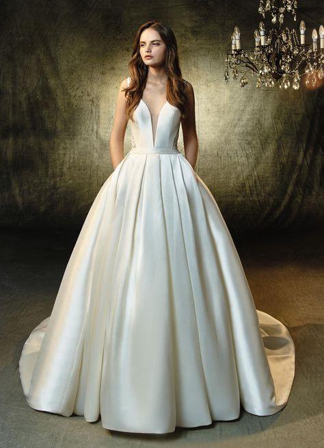 Hochzeitskleid Satin  Hochzeitskleid Brautkleid Und