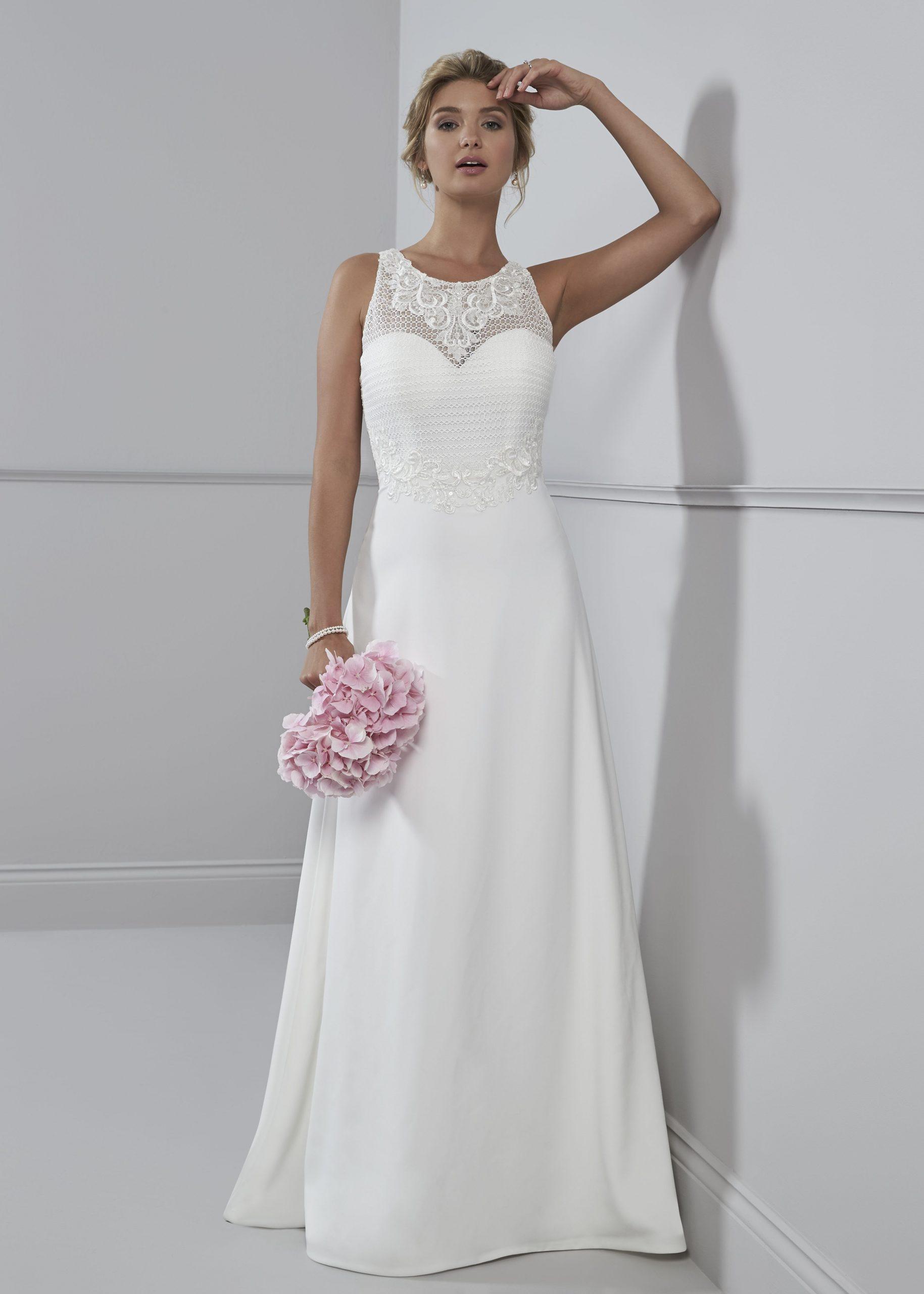 Hochzeitskleid Schlicht  Kleider Hochzeit Brautkleid