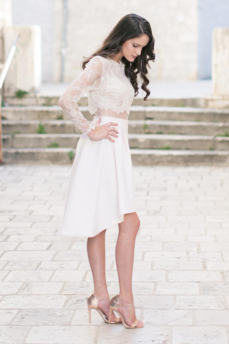 Hochzeitskleid Standesamt  Friseur