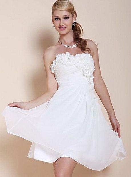 Hochzeitskleid Standesamt Kurz  Homecoming Kleider