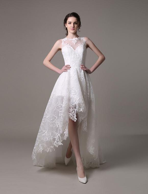 Hochzeitskleid Vorne Kurz Hinten Lang  Beliebte Kurze Kleider