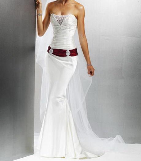 Hochzeitskleid Weiss Rot