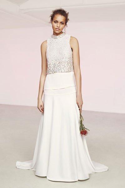 Hochzeitskleider Günstig Zweiteiliges Kleid Von Asos