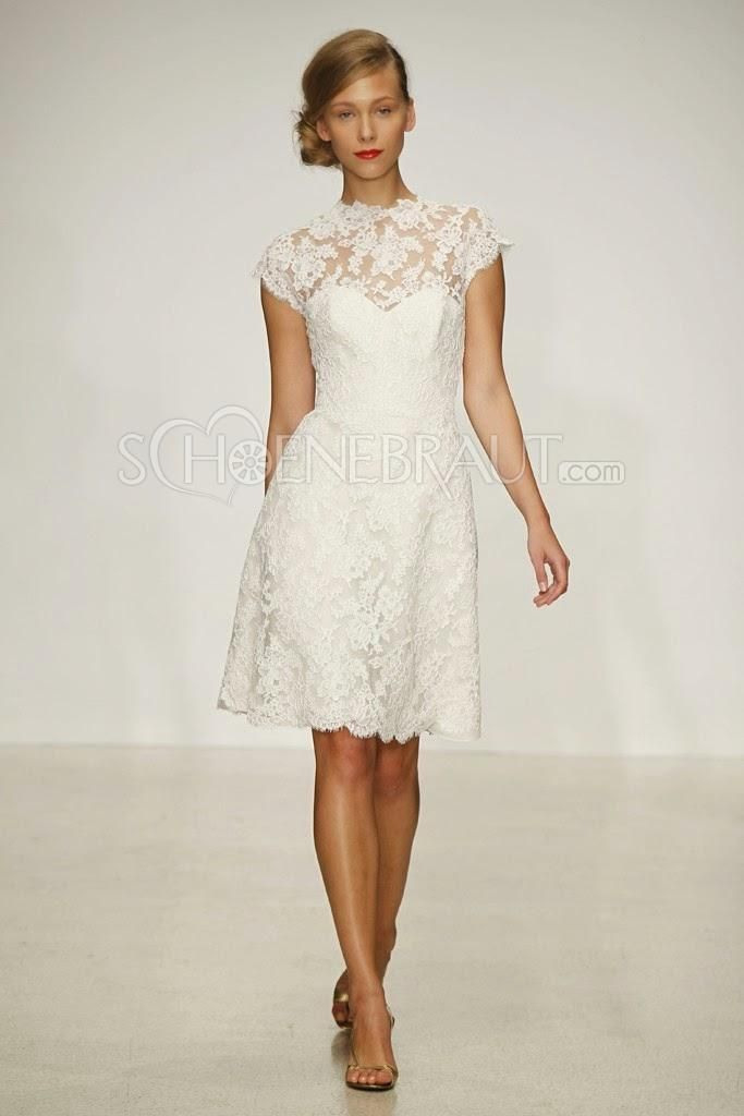 Hochzeitskleider Kurz Spitze Vintage Brautkleider