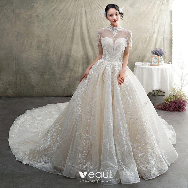Hochzeitskleider Prinzessin Luxus  Hochzeits Idee