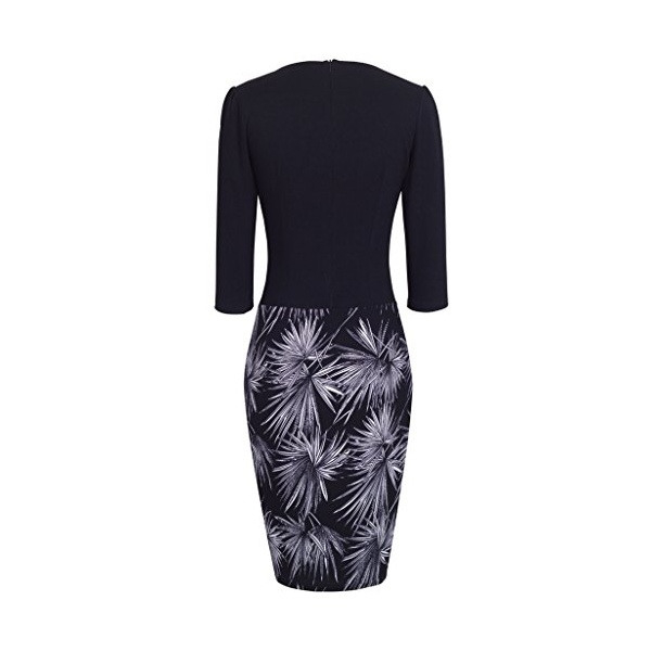Homeyee Damen 3 4 Arm Business Stretch Kleid B237  Empire