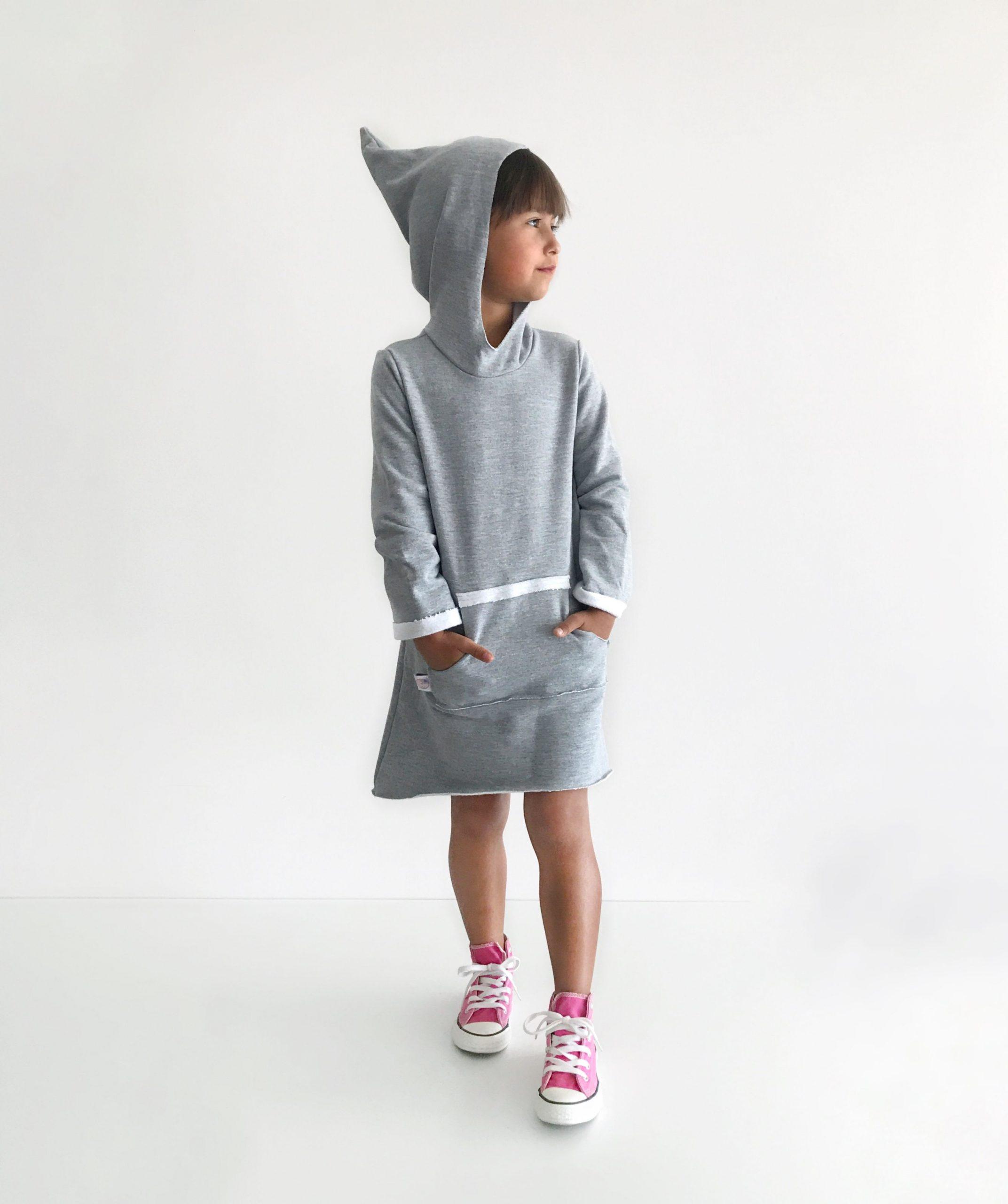 Hoodie Dress Pattern Pdf Girls Sweatshirt Dress Sewing