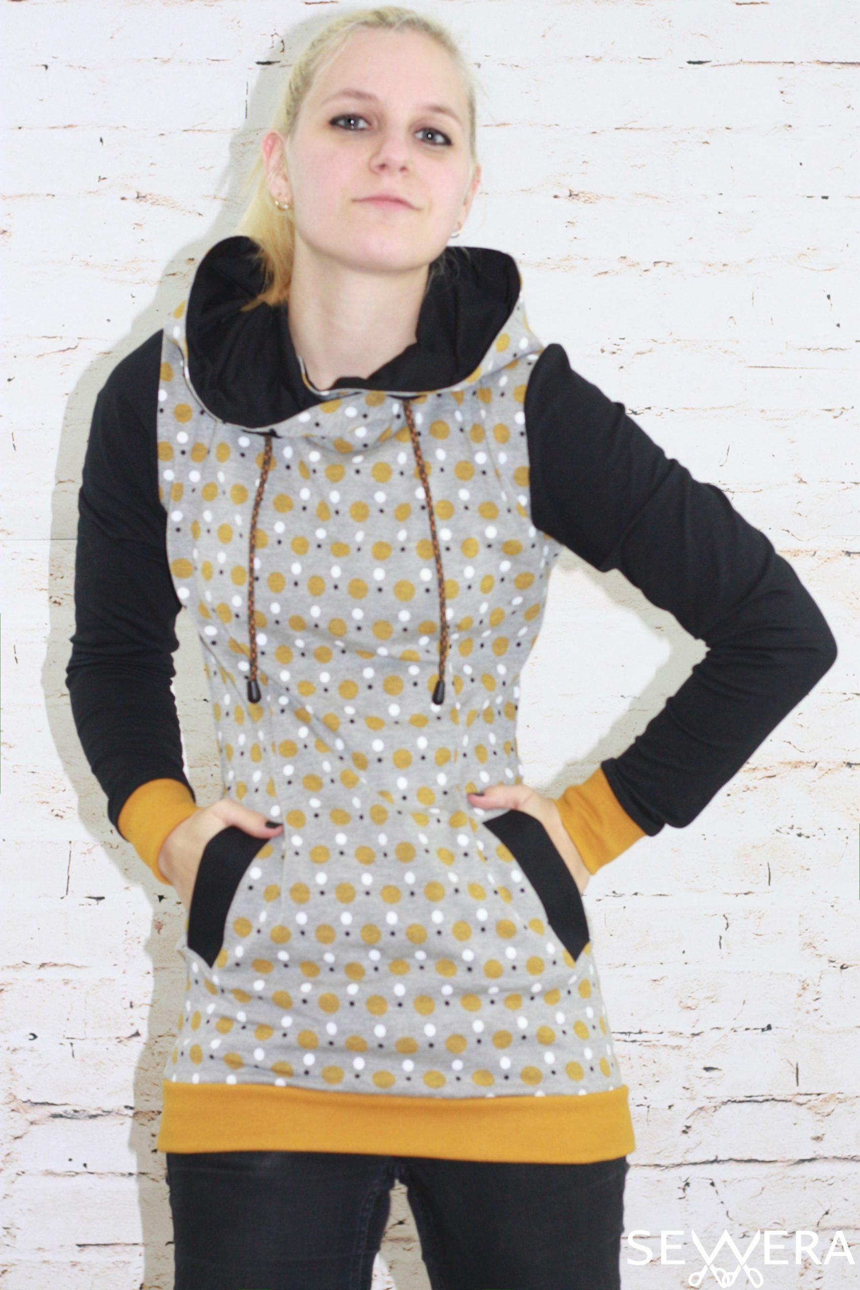 Hoodie Kleid Damen Schnittmuster  Stylische Kleider Für