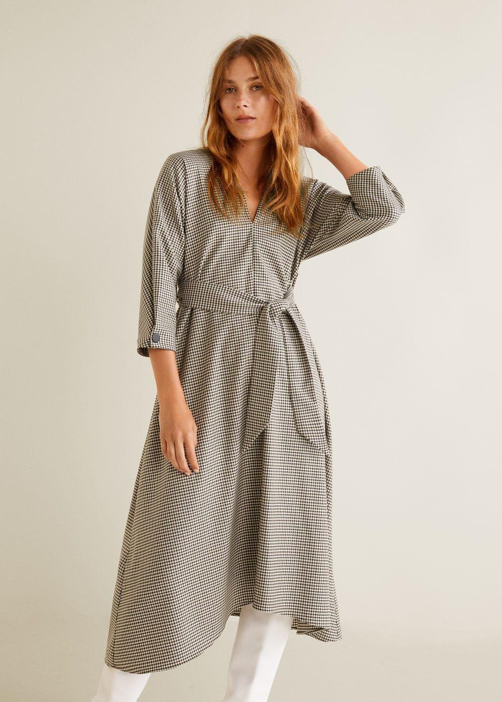 Houndstooth Dress  Women  Mango Usa  Kleider Damen