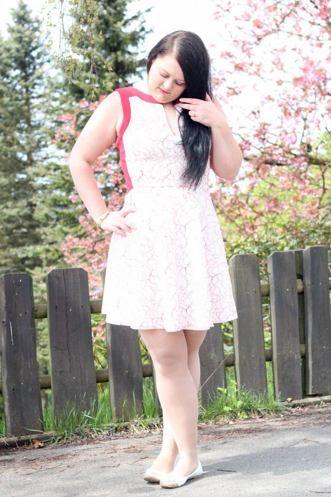 Hybrid Kleid Kleid Dress Outfit Hochzeit Rot  Weiß