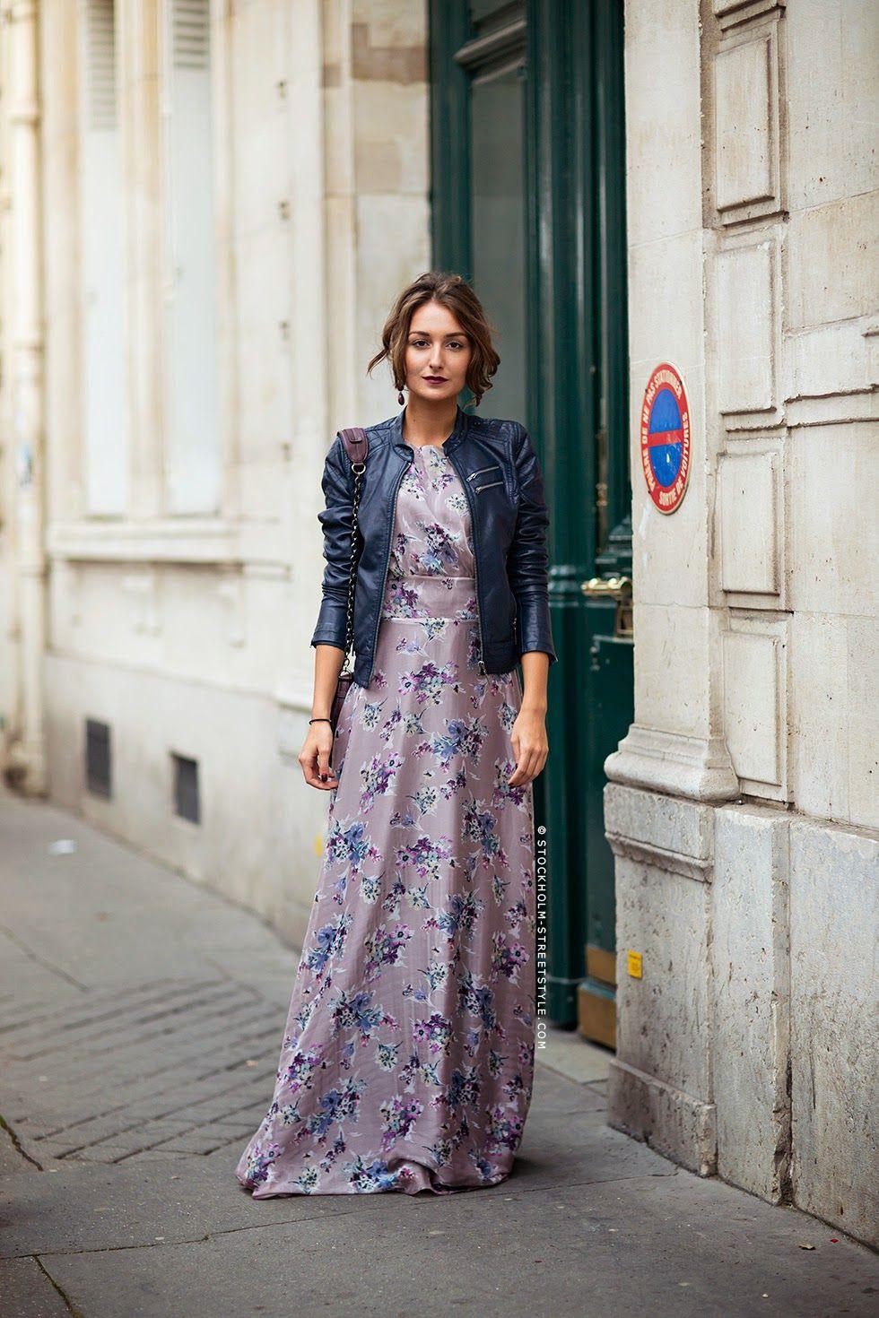 I Love Leather Jackets Over Super Feminine Dresses
