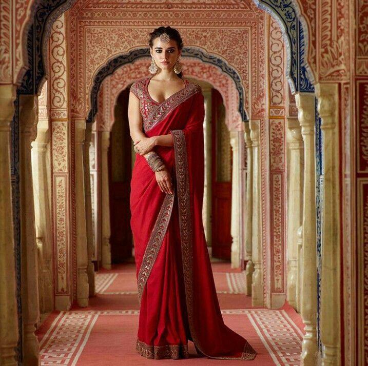 Iamdhritikala  Sari Hochzeit Indische Braut Mode Für