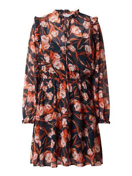Ichi Kleid Mit Floralem Muster Modell 'Boenke' In Orange