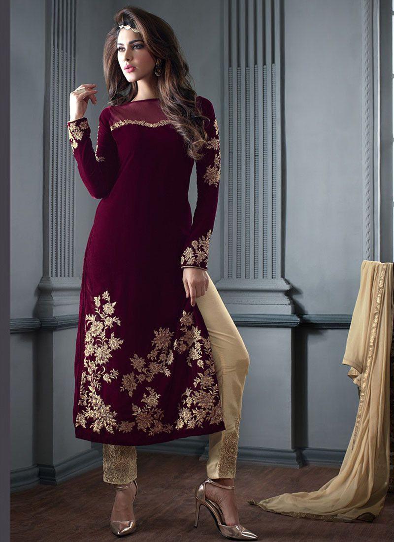 Ideen Von Royal Indian Velvet Kleider Design  Indische