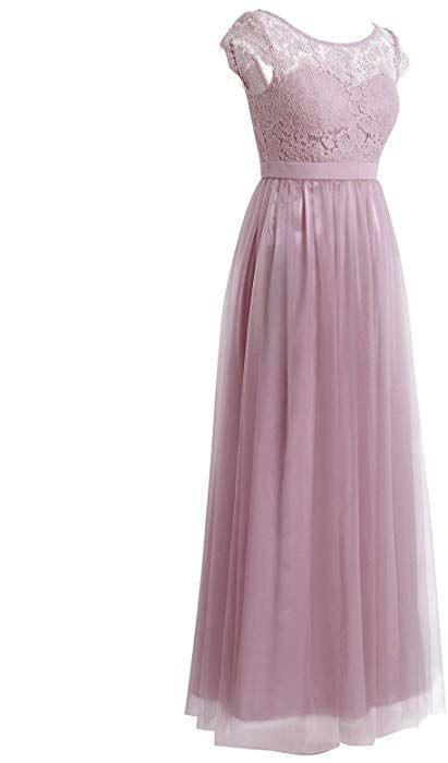 Iefiel Damen Kleid Festlich Spitzenkleid Cocktailkleid
