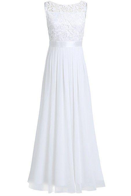 Iefiel Damen Kleid Festliche Kleider Brautjungfer Hochzeit