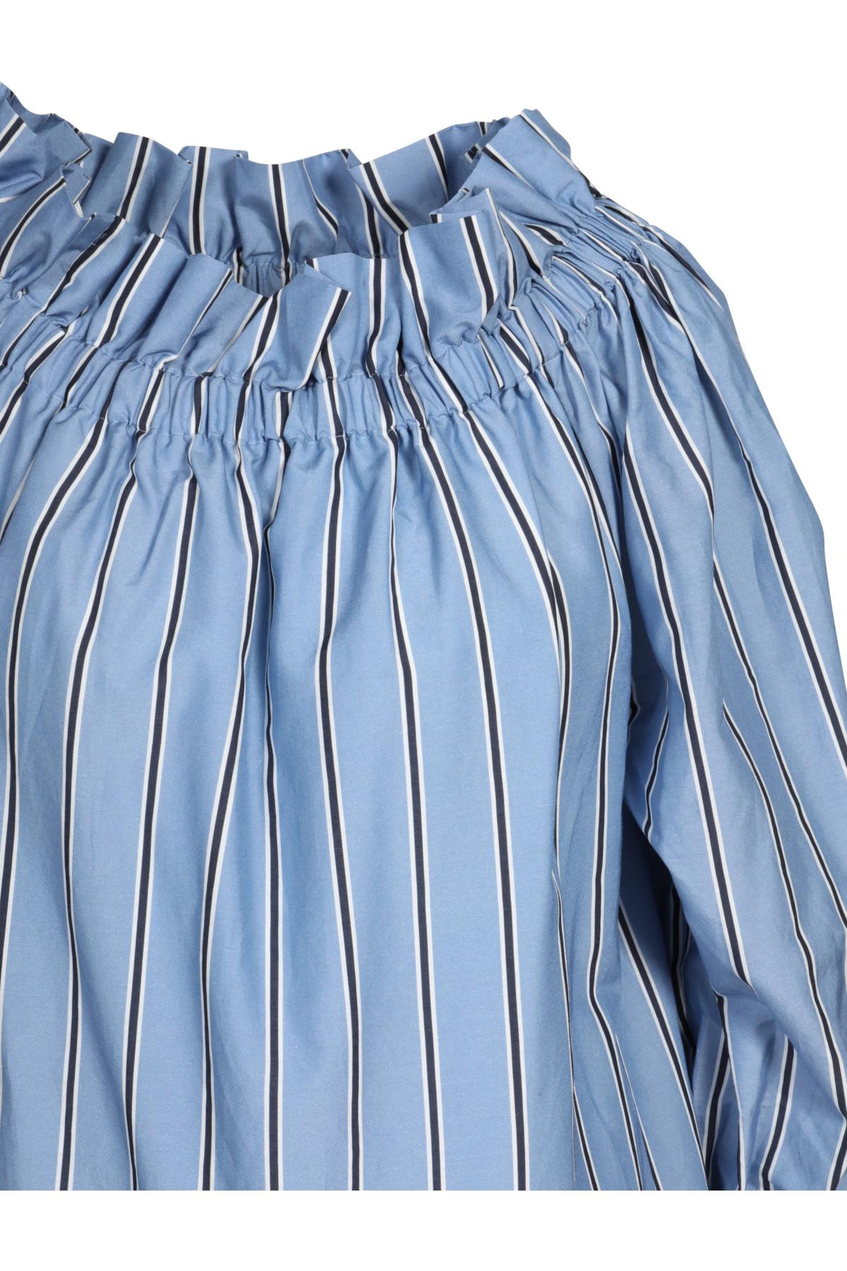 Iheart Kleid Mit Seide In Hellblau Gestreift 430314