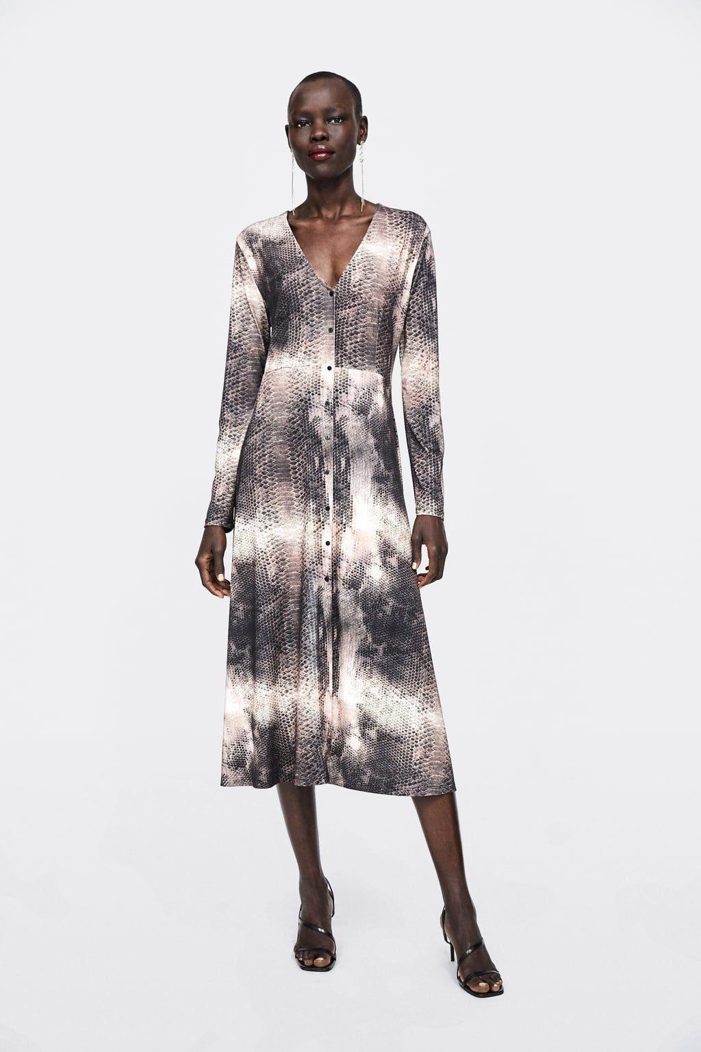 Image 1 Of Animal Print Dress From Zara  Bedruckte