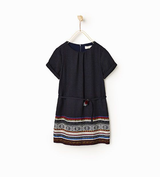 Image 1 Of Dress With Printed Border From Zara  Kleider