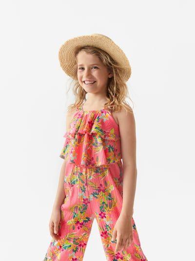 Image 1 Of Floral Jumpsuit From Zara  Kinder Kleider