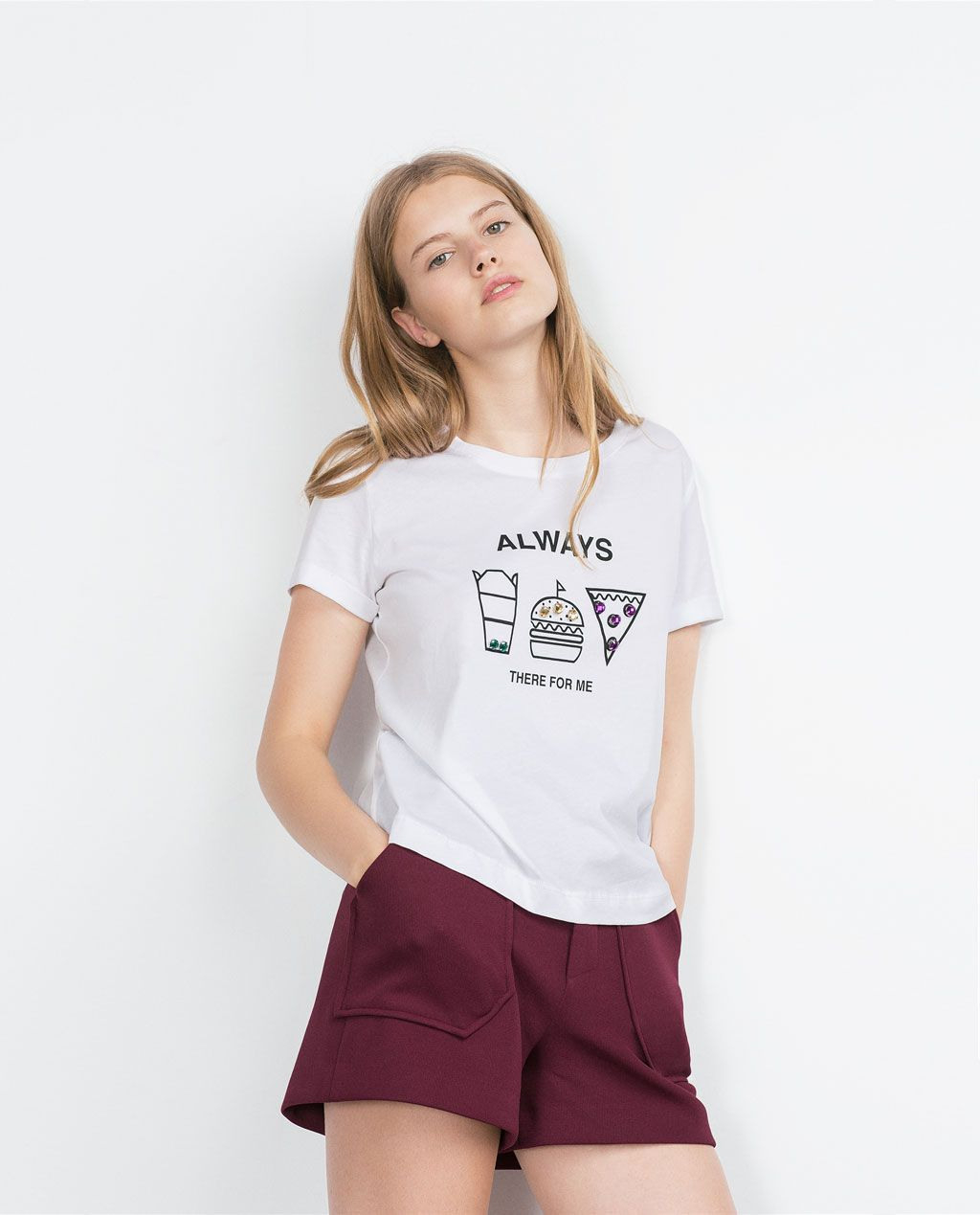 Image 1 Of Jewelled Tshirt From Zara With Images  Zara