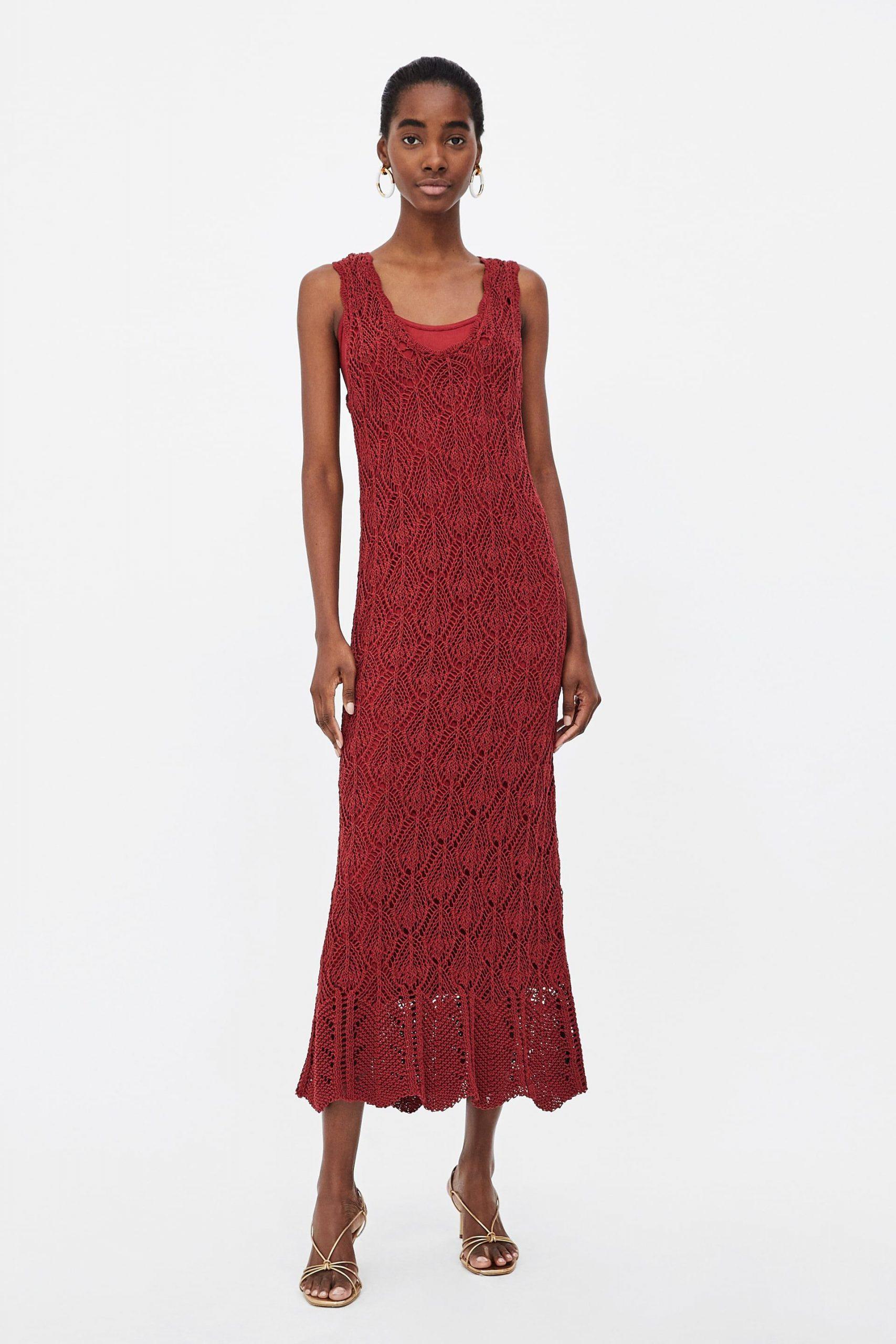 Image 1 Of Openwork Knit Dress From Zara  Kleider