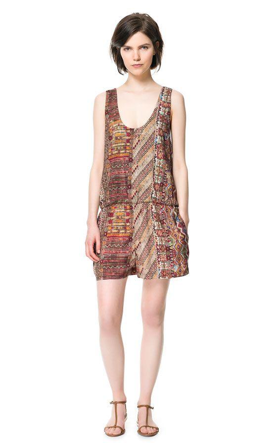 Image 1 Of Printed Jumpsuit From Zara  Zara
