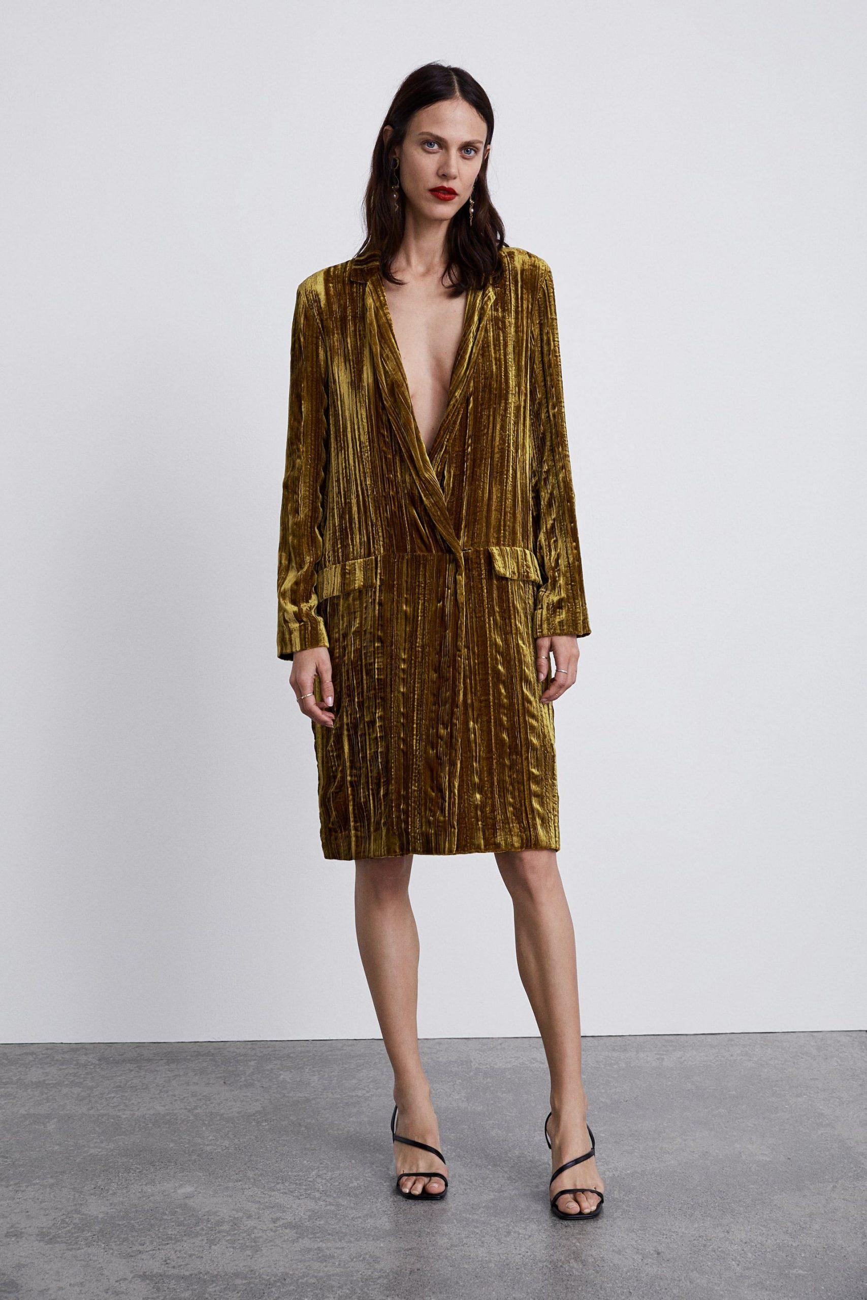 Image 1 Of Velvet Frock Coat From Zara  Mode Outfits