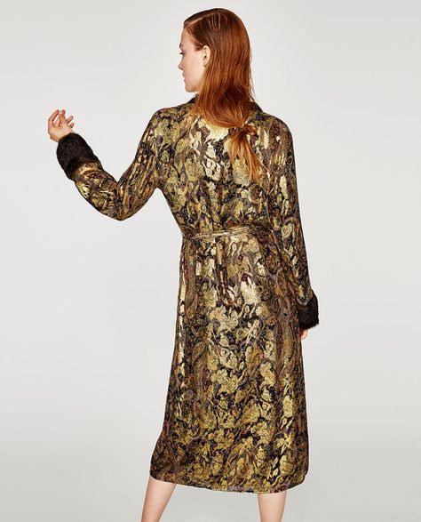 Image 4 Of Shiny Silk Jacquard Kimono From Zara