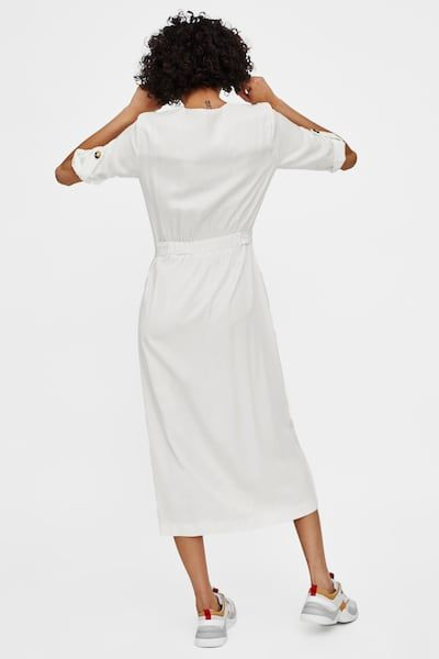 Image 5 Of Midi Dress With Buttons From Zara  Midikleider