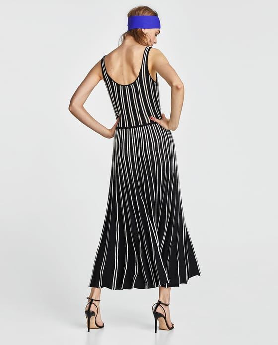 Image 6 Of Striped Strappy Dress From Zara