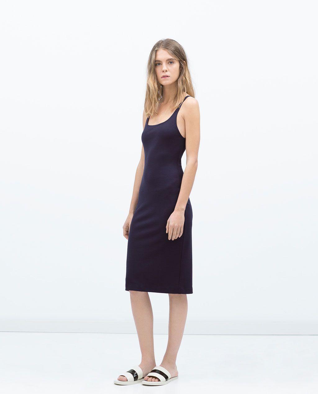 Imagem 1 De Vestido Básico Esticado Da Zara  Kleider