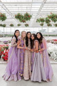 Indianweddinginspiration  Indische Brautjungfern