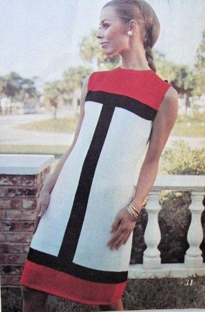 Instant Pdf Pattern Mod Mondrian Color Block Mini Dress