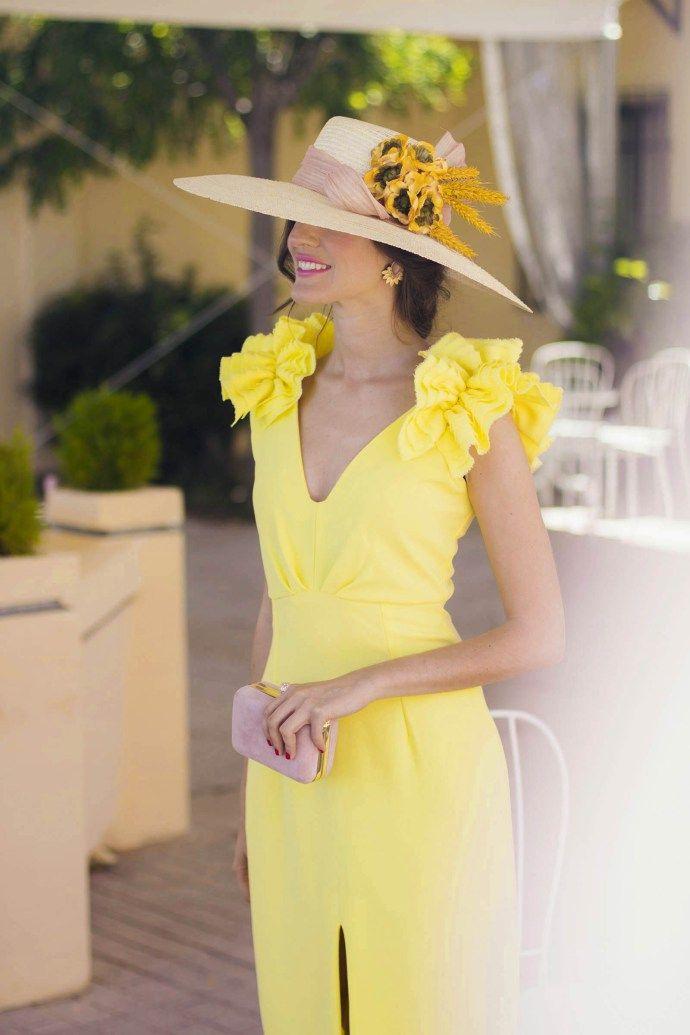 Invitada Boda Día Amarillo Y Rosa  Vestido Amarillo Boda