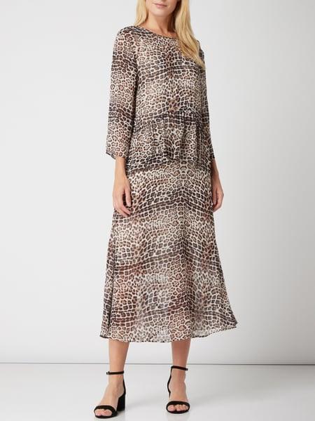 Inwear Kleid Aus Krepp Mit Animalprint In Weiß Online