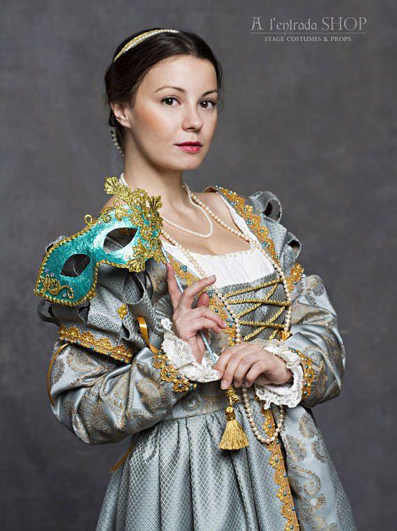 Italienische Renaissance Kleid Blaue Ren Faire Kostüm