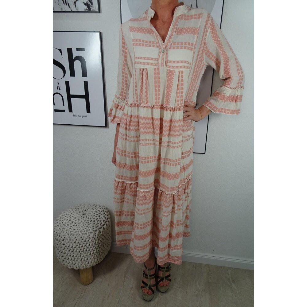 Italy Fashion Tunika Midi Kleid| Ibiza Boho Hippie Look