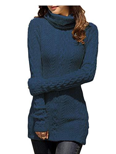Itsmode Damen Pullover Kleid Warm Winterkleid Elegant