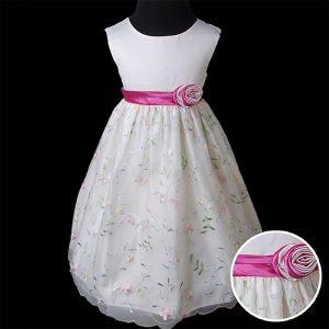Ivory Mädchen Perlenpailletten Bestickte Kleid