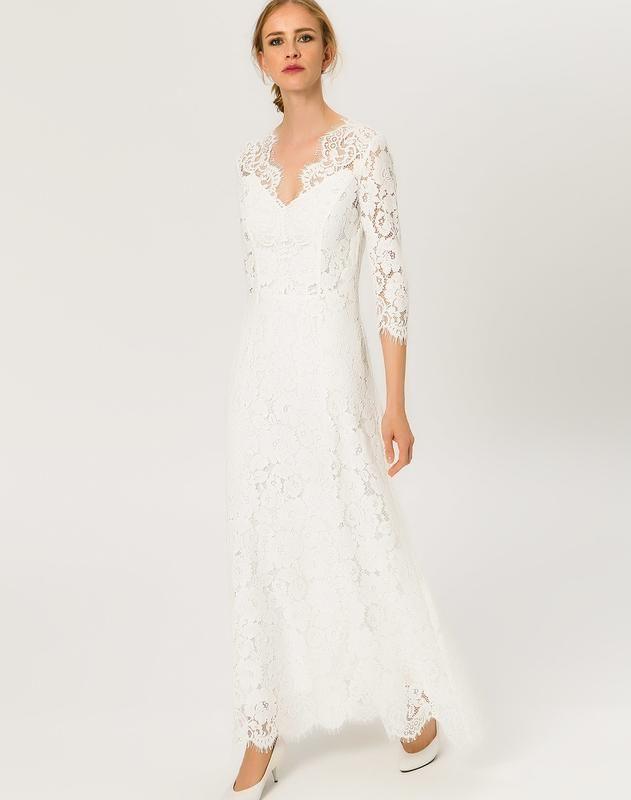 Ivy  Oak Kleider Flared Lace Dress Ss18 Jan In Weiß