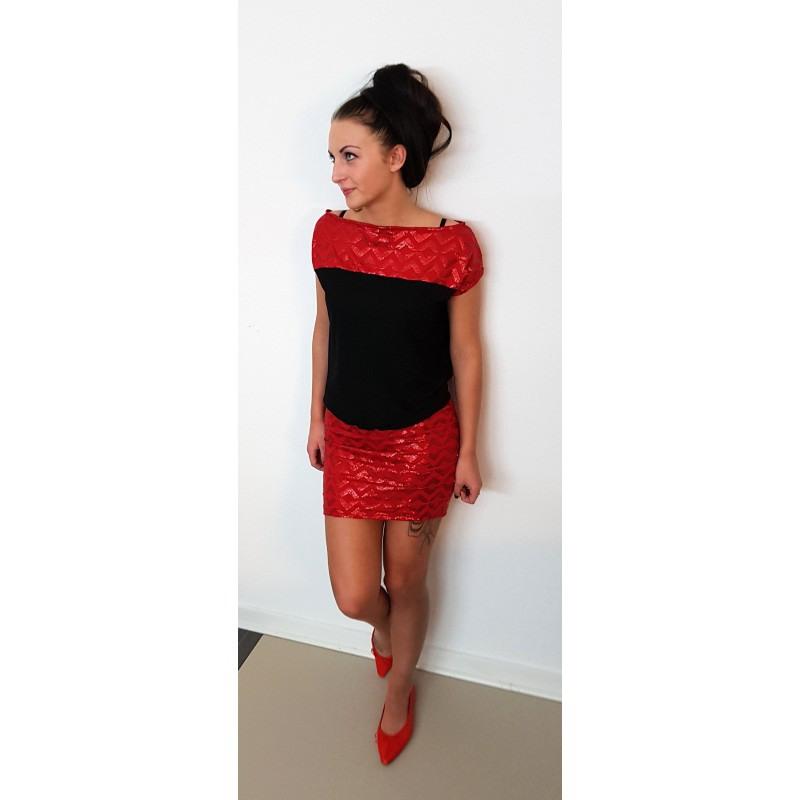 Iza Fabian Kleid Ccc4 Rot Red Schwarz Black Kleider