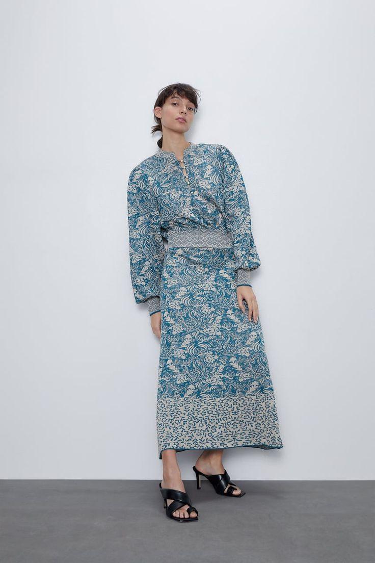 Jacquard Dress  Zara United States In 2020  Strickkleid