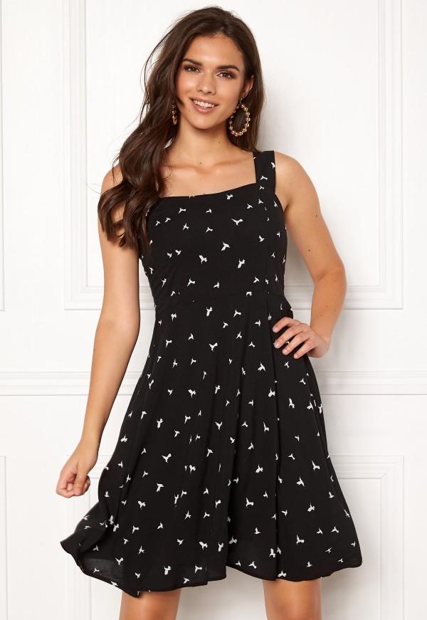 Jacqueline De Yong Victory Strap Dress Black  Bubbleroom