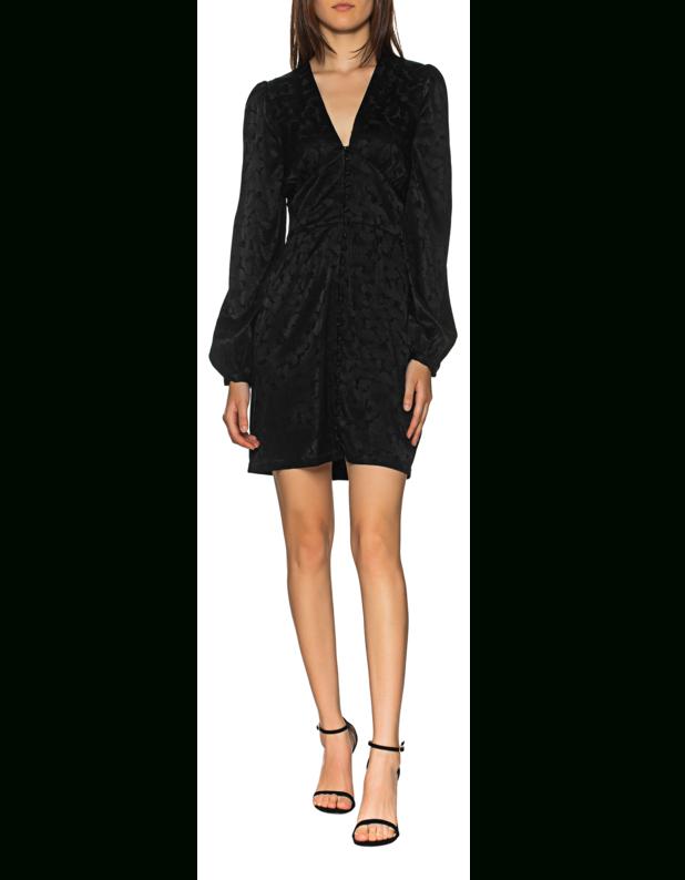 Jadicted Short Silk Floral Black Kurzes Seidenkleid Mit