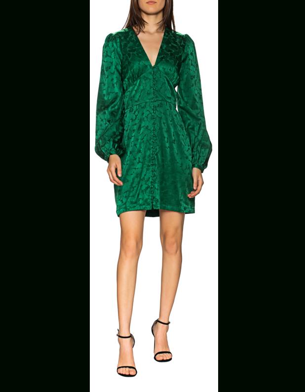 Jadicted Short Silk Floral Green Kurzes Seidenkleid Mit