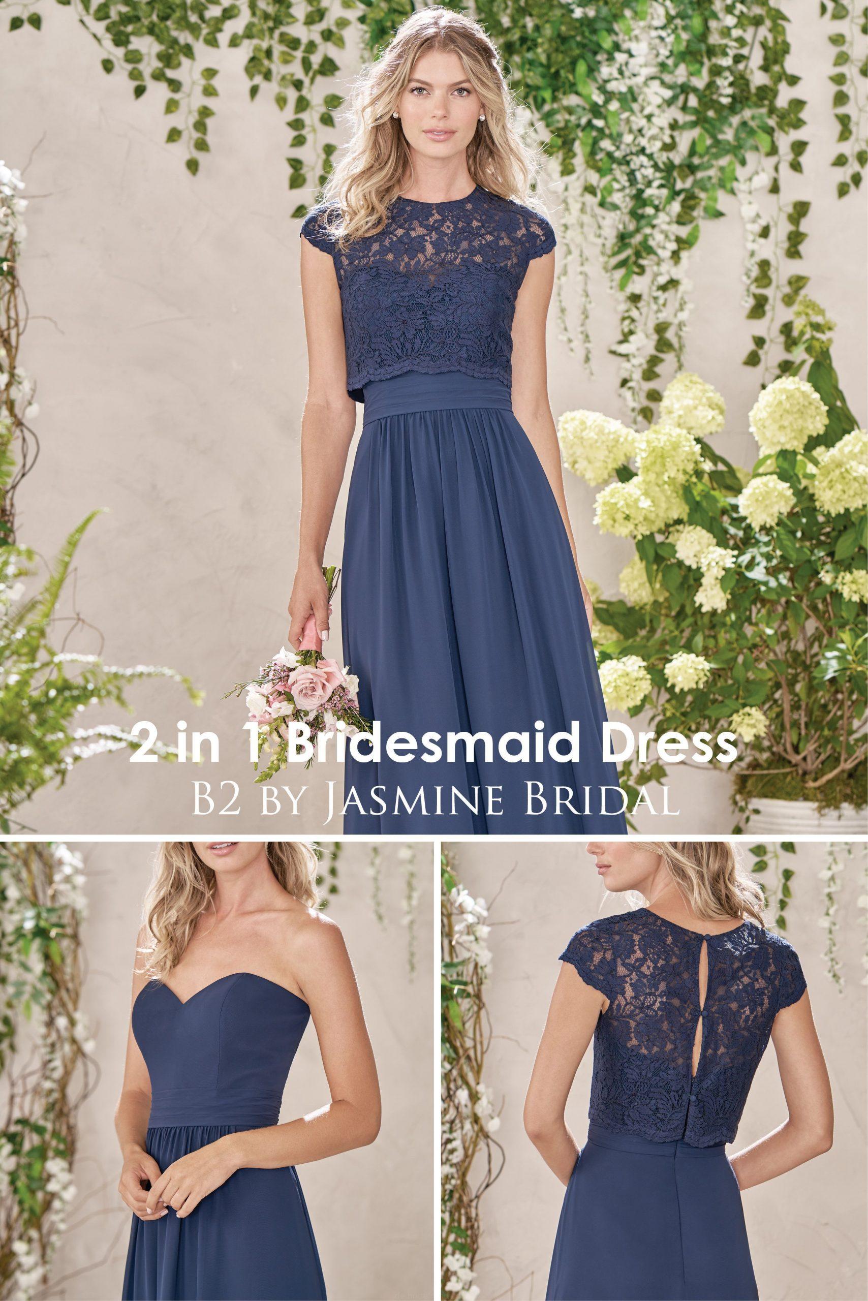 Jasmine Bridal  2In1Brautjungfer Kleid  Designer