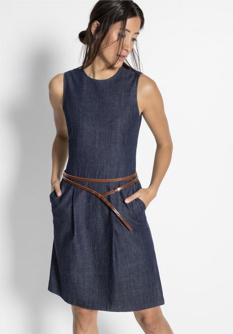Jeans Kleid Lange Ärmel