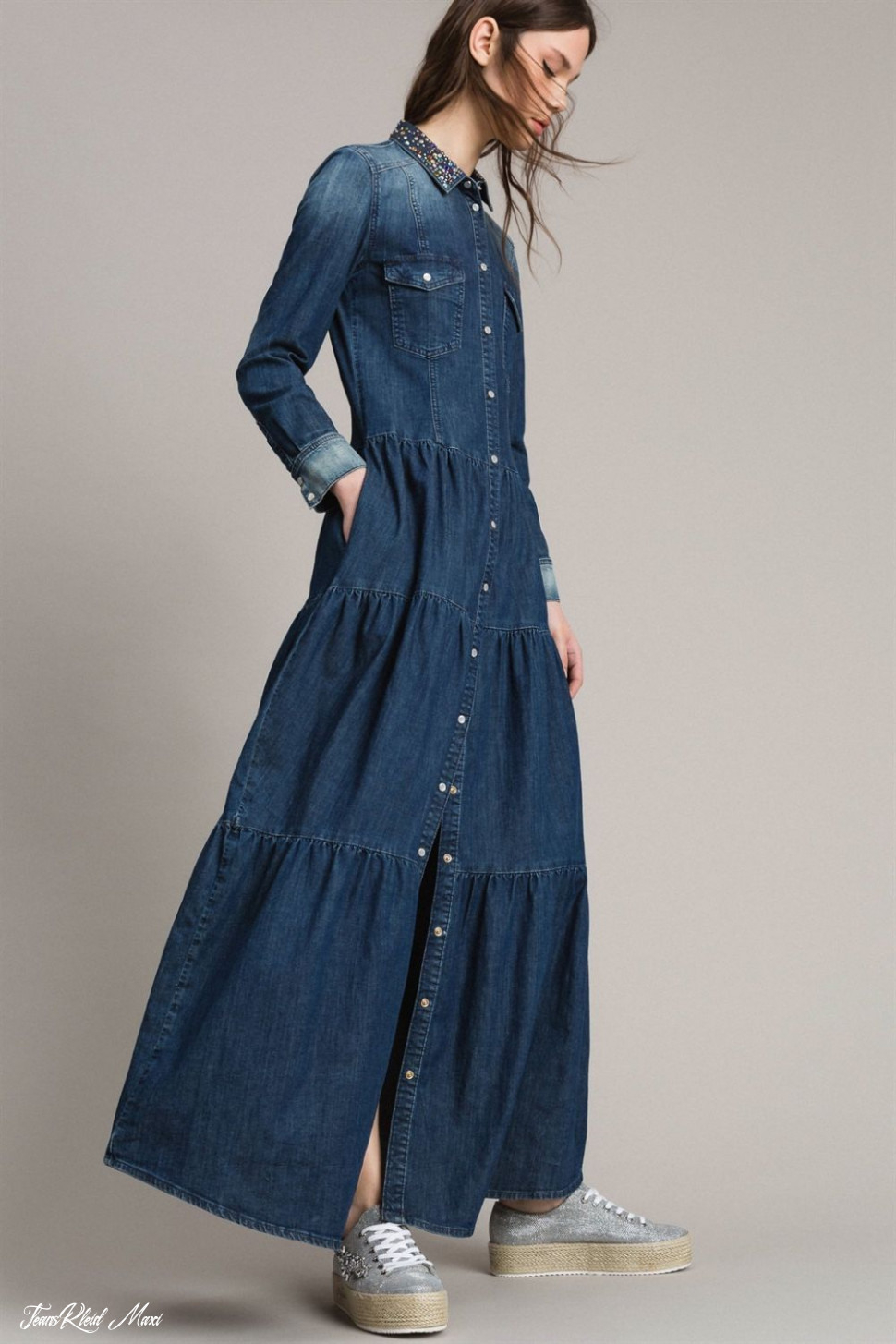 Jeans Kleid Maxi  Abendkleider